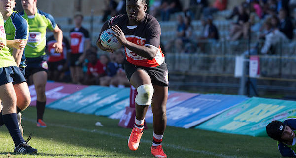 Tornados left wing Vusi Gubenieyes the try line during a Kpshuis Varsity Rugby Match held at UCT, Monday 22 February, 2016. Photo by: Halden Krog/SASPA