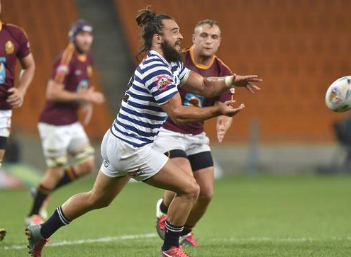 SOWETO, SOUTH AFRICA - March14 :   RICO LATEGAN from Ikeys during Varsity Cup Rugby FNB Maties v FNB UCT Stadium on March 14, 2016 in SOWETO, South Africa © Christiaan Kotze / SASPA