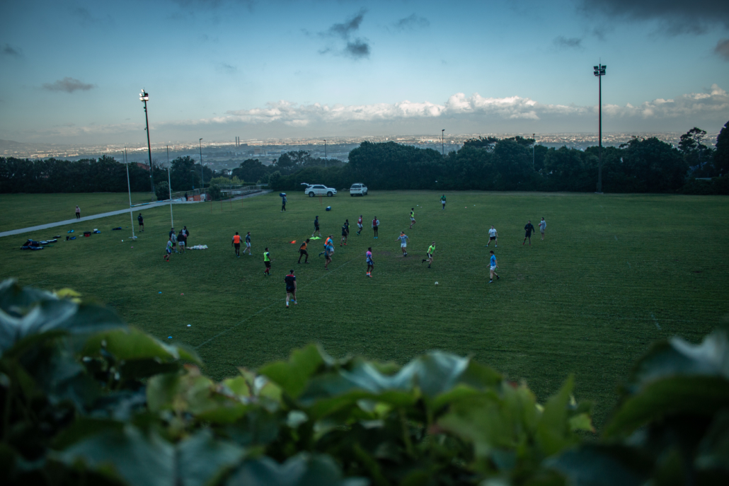 Caption: Pre-season training earlier this year on The Green Mile Source: Matthew Begg