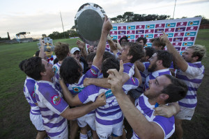 UCT celebrate after beating NMMU in the 2017 Varsity KOSHUIS PREMIER FINAL, presented by Steinhoff, FNB and STEERS. Monday 27 March 2017 UCT COBRAS vs MADIBAZ HARLEQUINS at UCT SPORTS FIELD Photo by: HALDEN KROG/SASPA